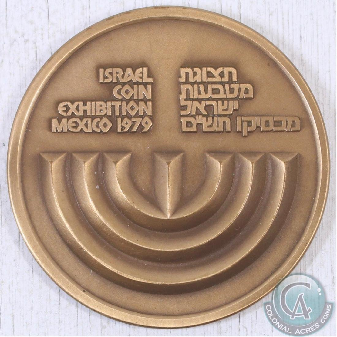 Israel Coin Exhibition Mexico 1979 Medallion (59 mm in