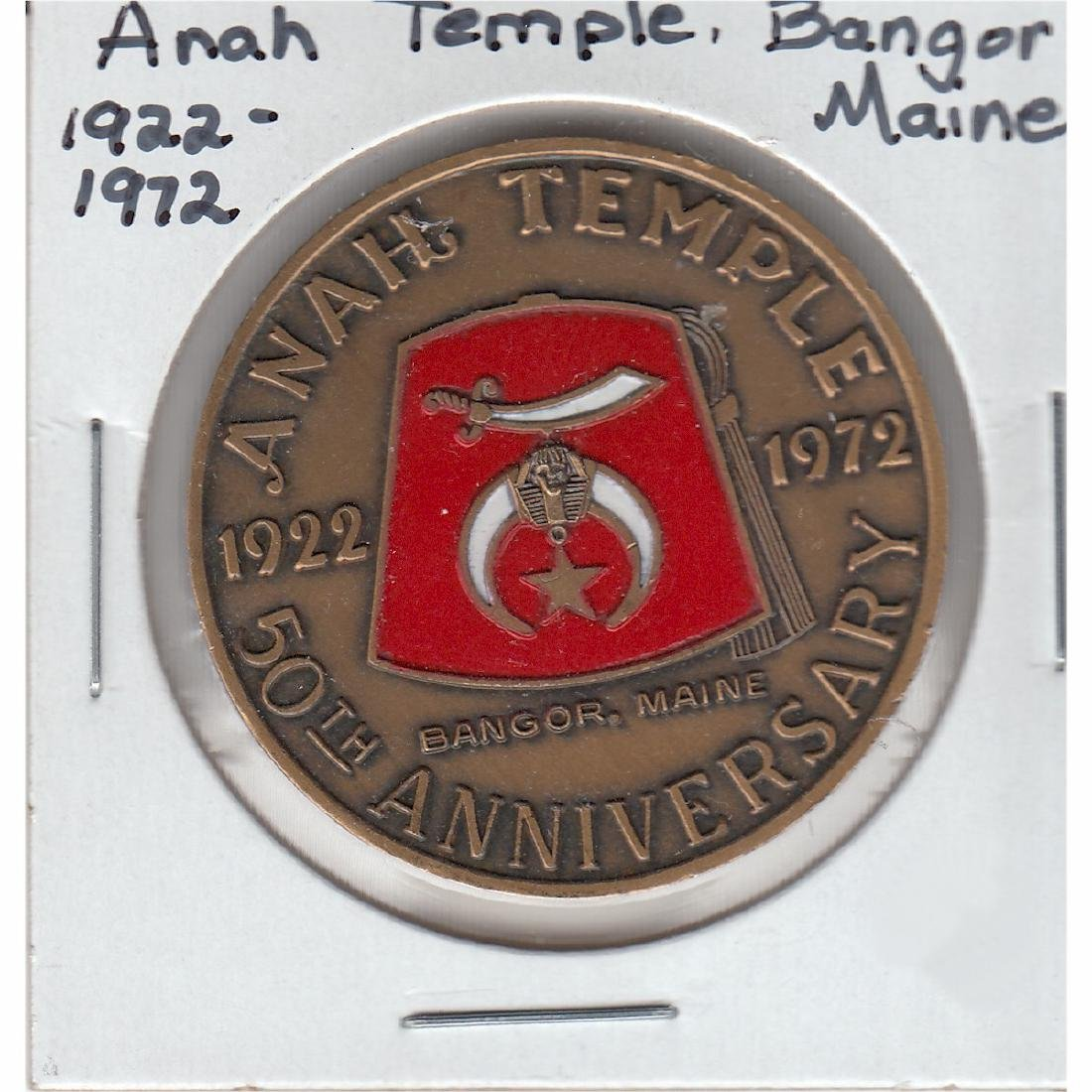 1922-1972 Anah Temple Bangor, Maine 50th Anniversary