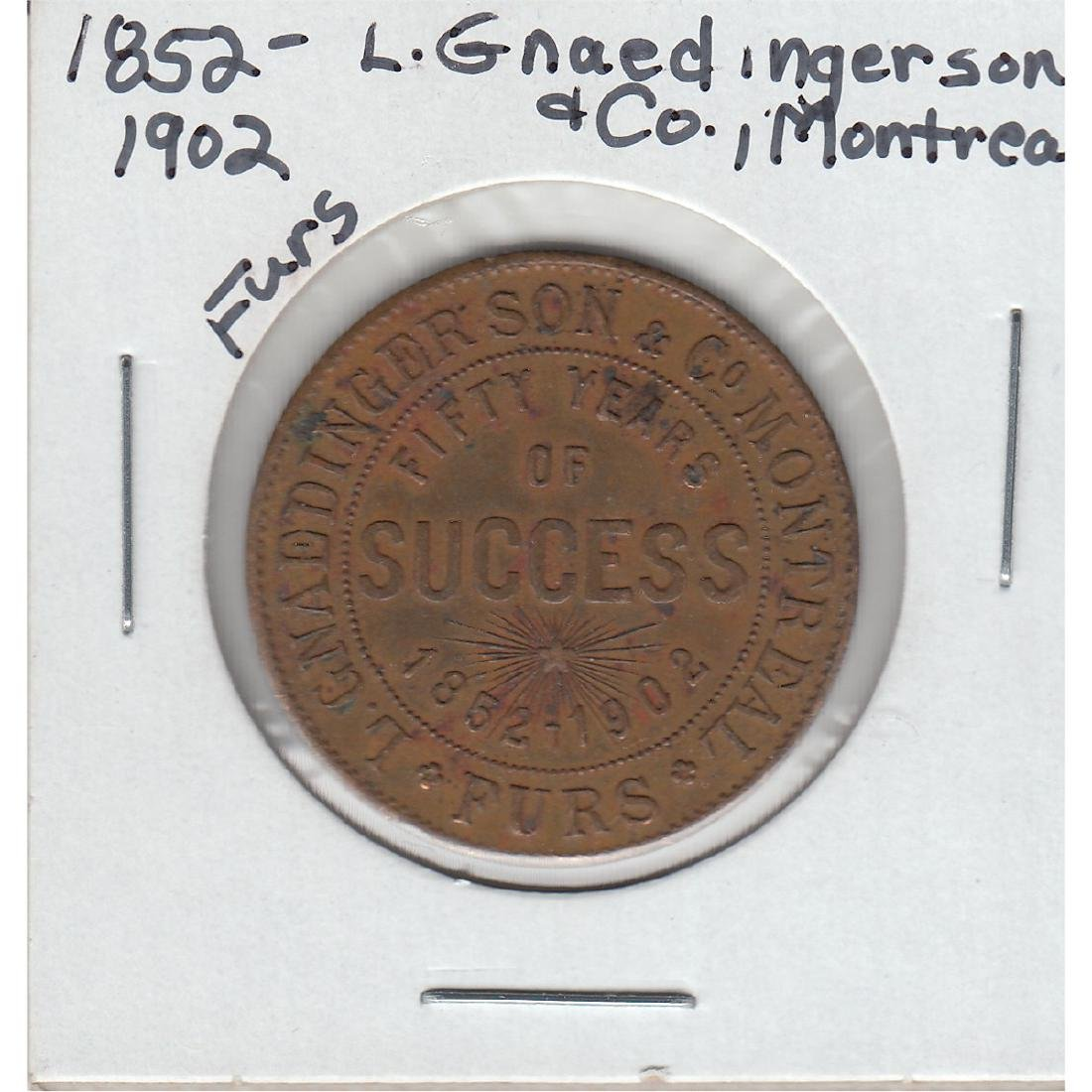 1852-1902 L. Gnaedinger Son & Co. Montreal Furs Fifty