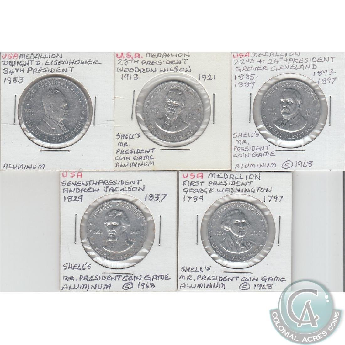 Lot of 7x USA - 5x United States Presidential Aluminium