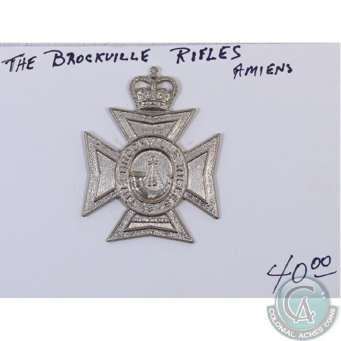 The Brockville Rifles Badge.