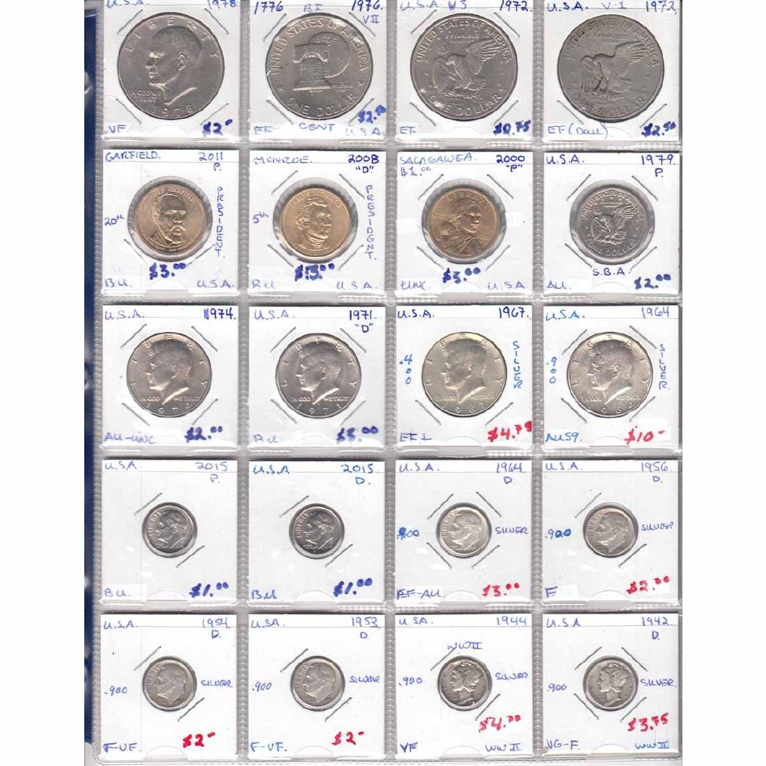 Collection of United States Coins dated 1942-2015. You - 2