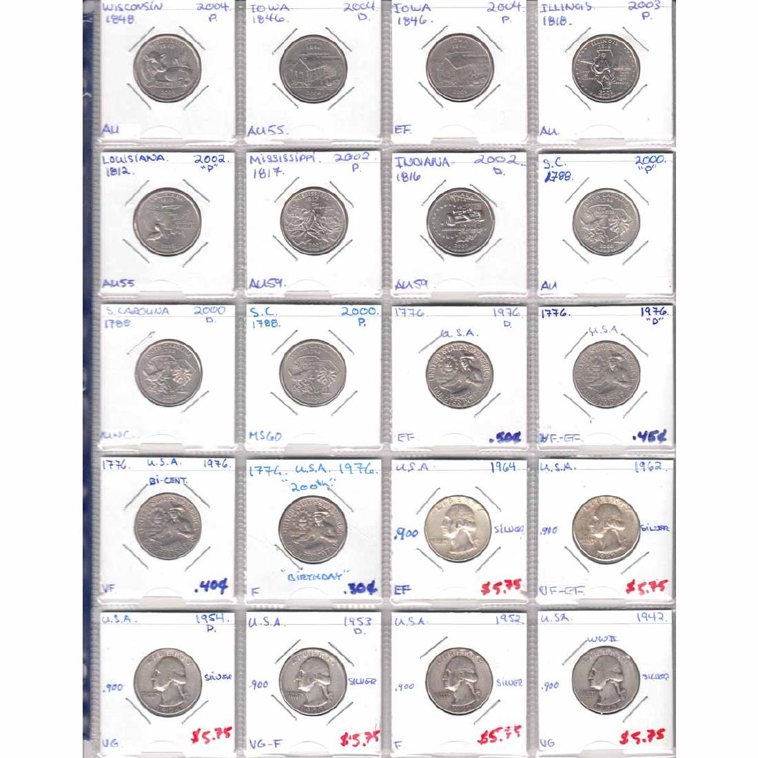 Collection of United States Coins dated 1942-2015. You - 4