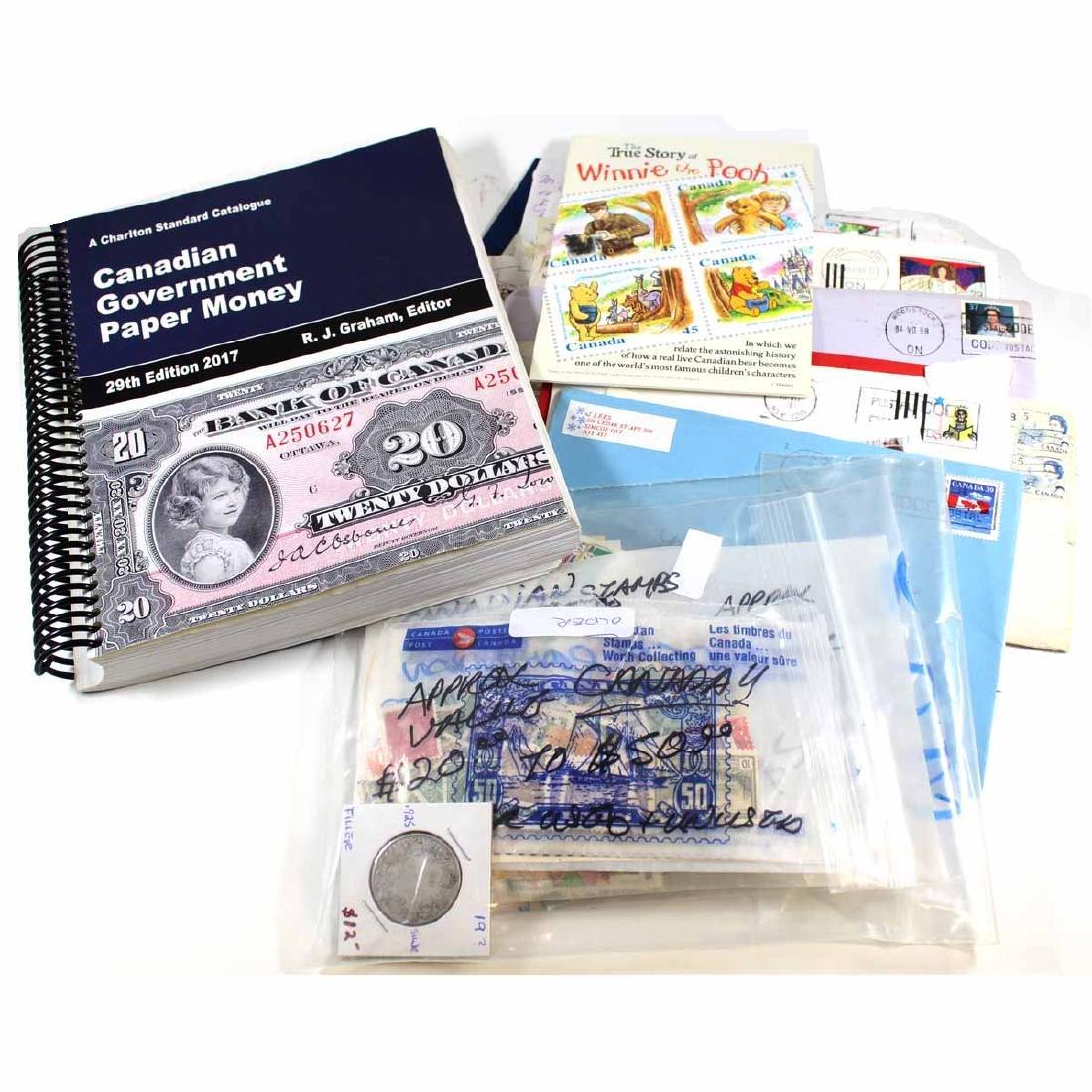 Estate lot of Canadian Stamps, Envelopes, Pains