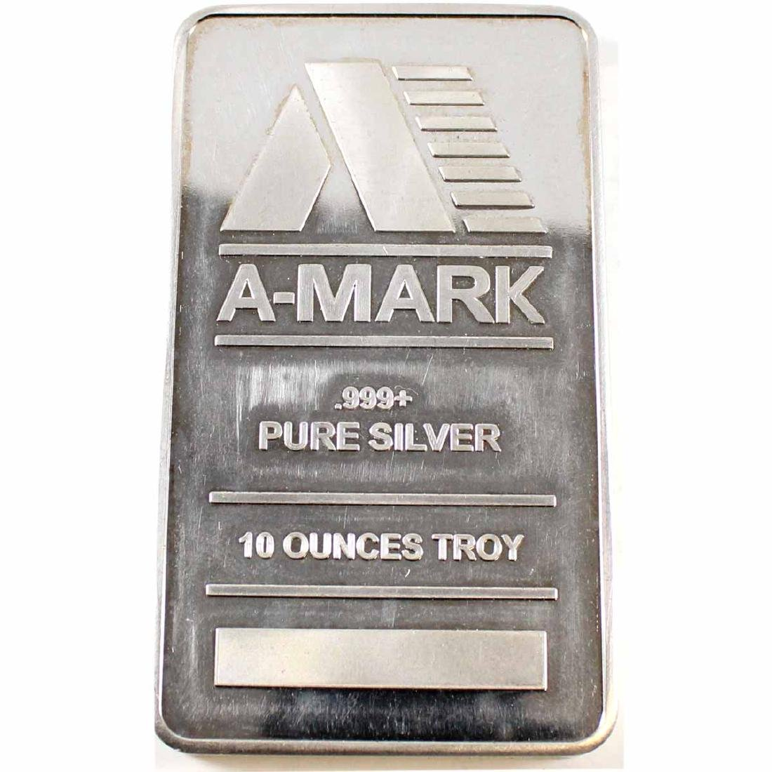 A-Mark 10oz Fine Silver Bar (Tax Exempt)