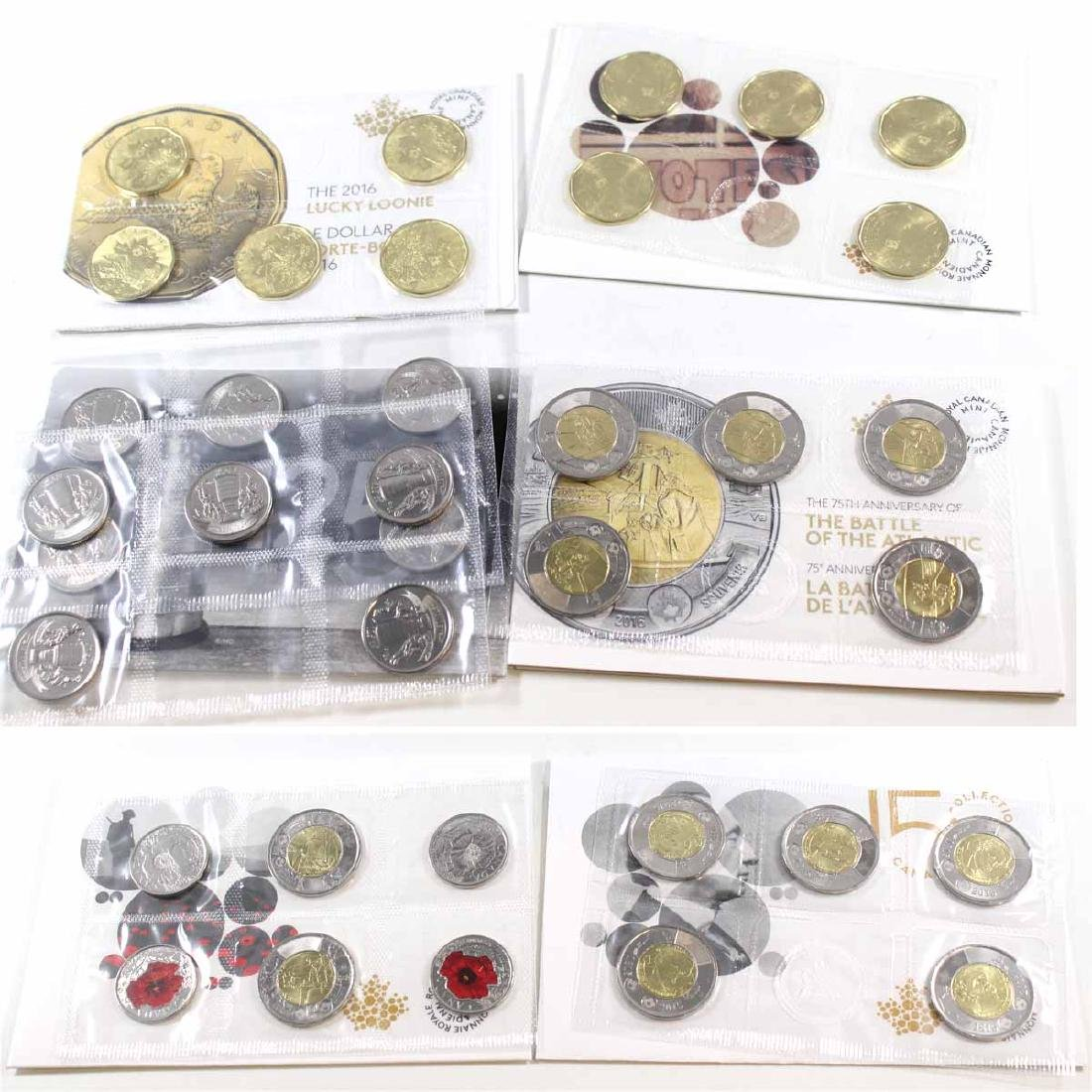 2015-2017 Canada Circulation coin Pack Collection. You