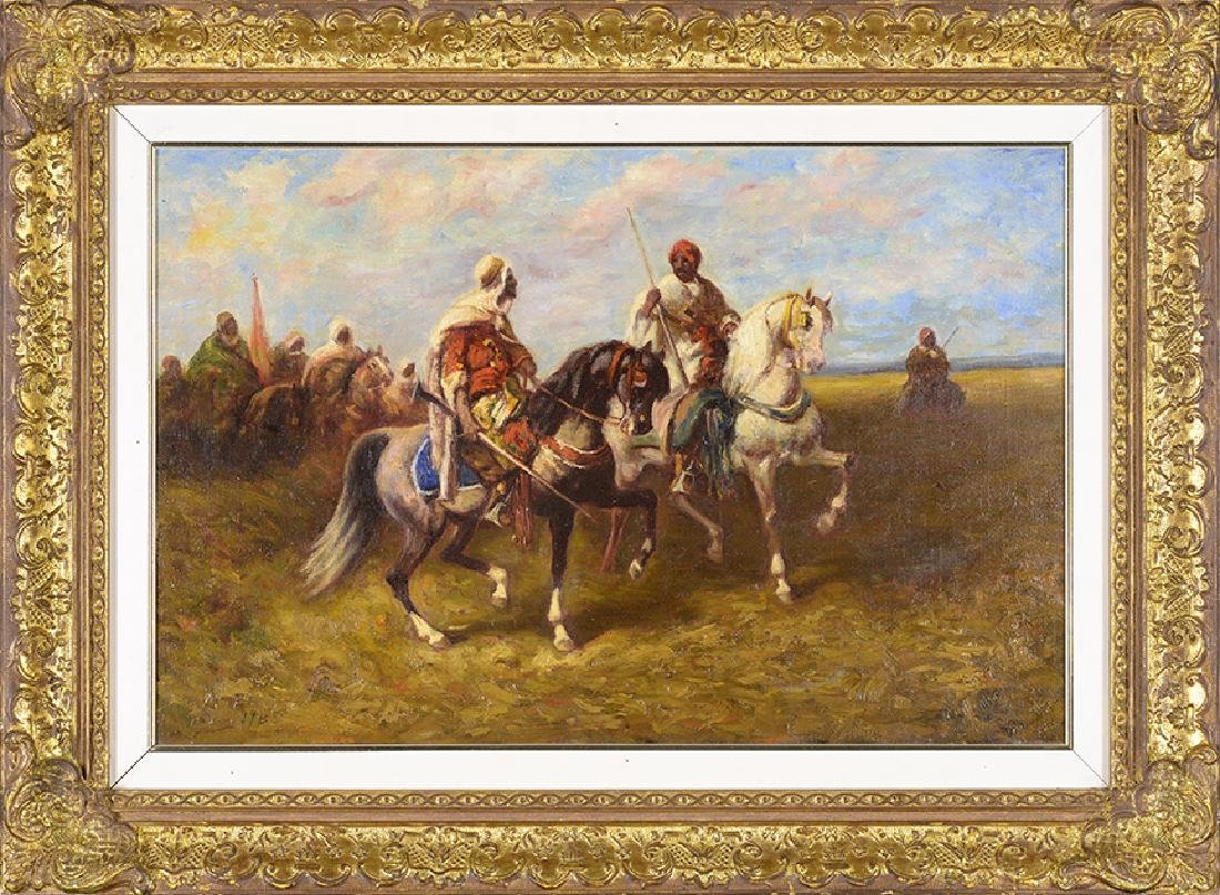 19th Century Arab Horsemen, Oil on Canvas
