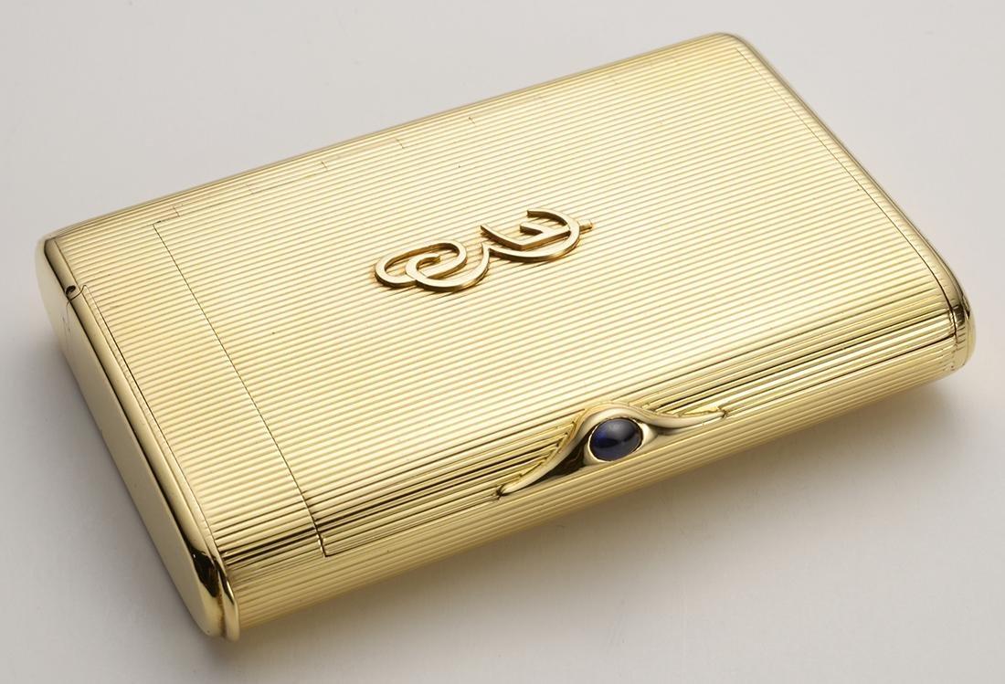 Signed Cartier Cigarette Case, 1960