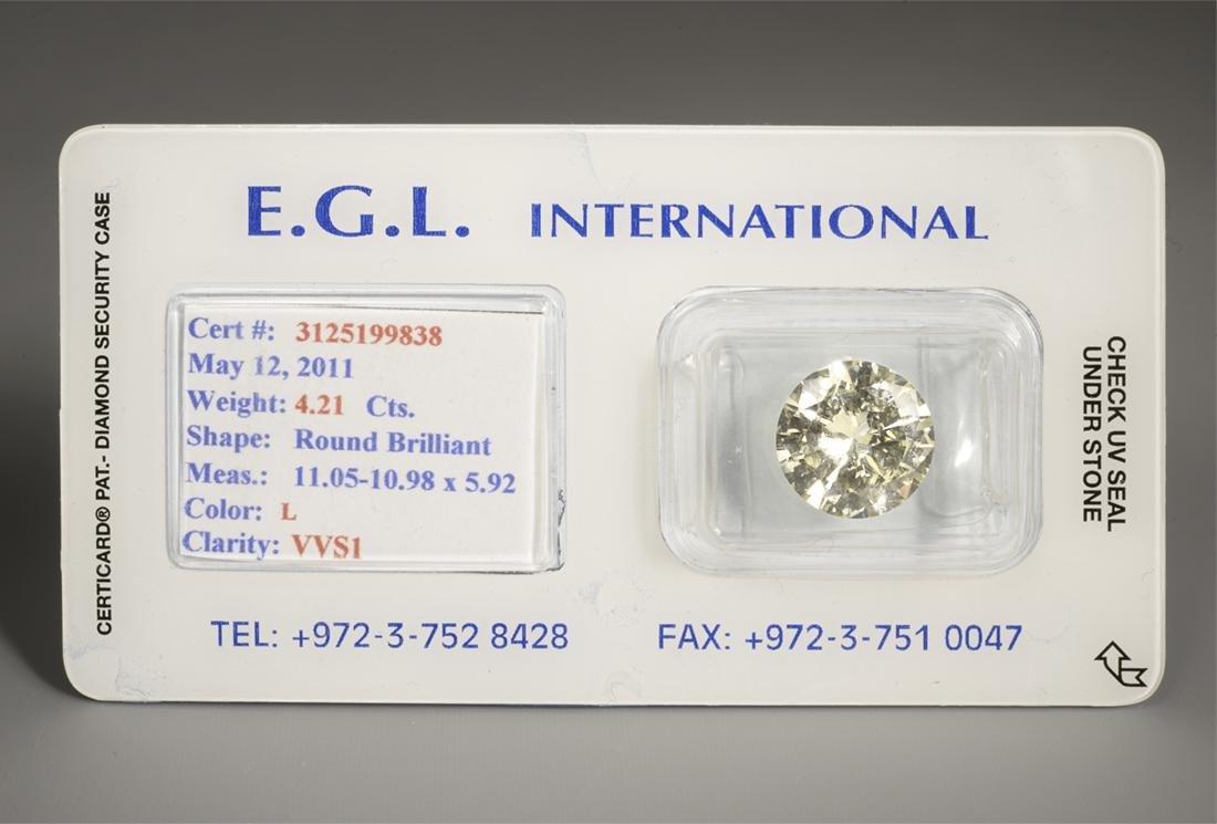Round Brilliant 4.21 carat diamond