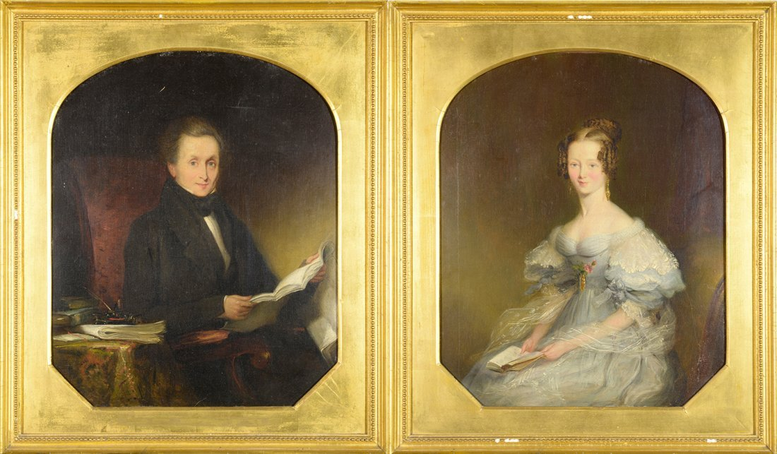 Two framed Portraits, unknown artist