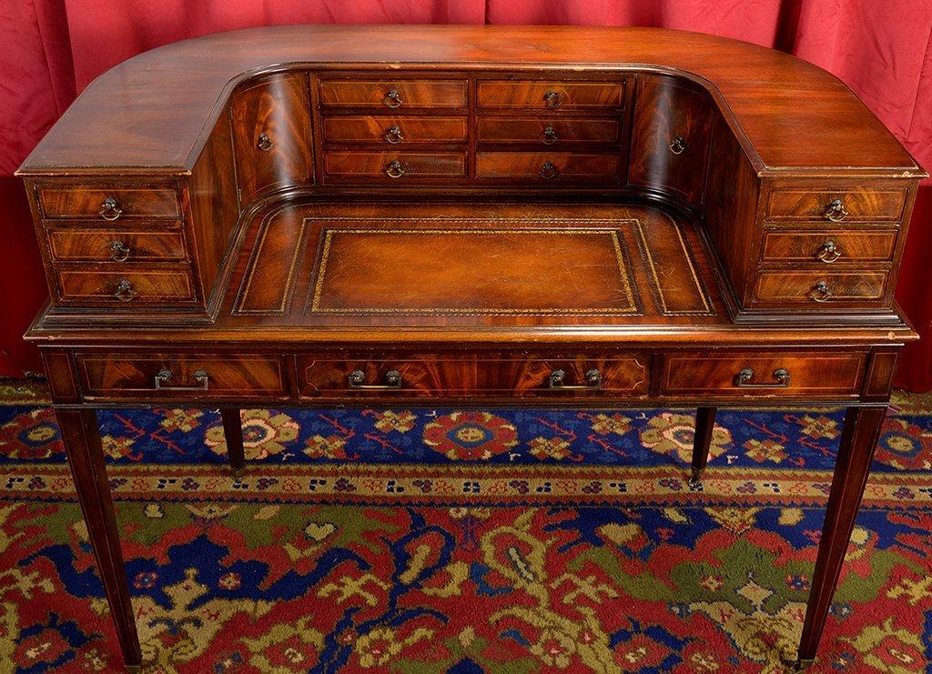 Antique Curved Weiman Desk - 3
