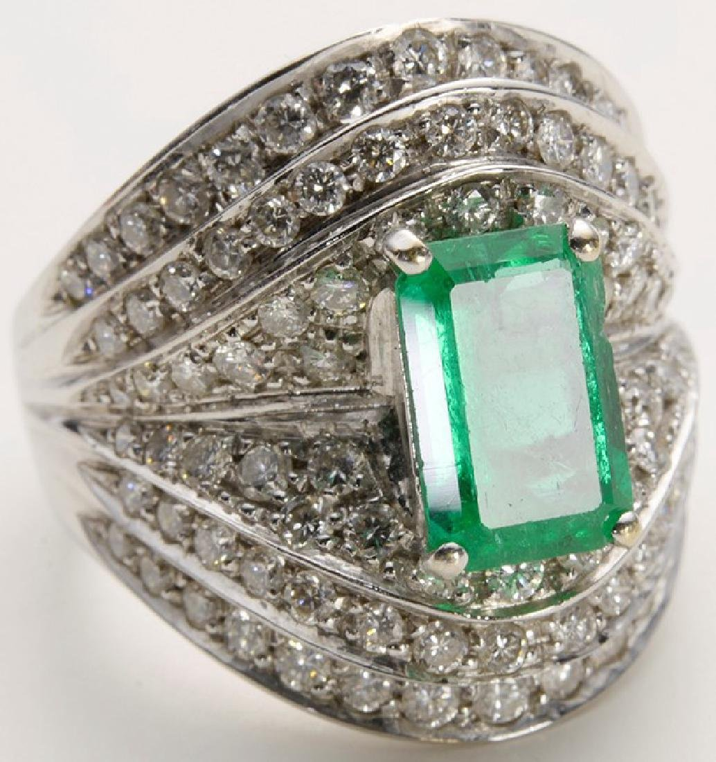 Columbian Emerald Ring with Diamonds