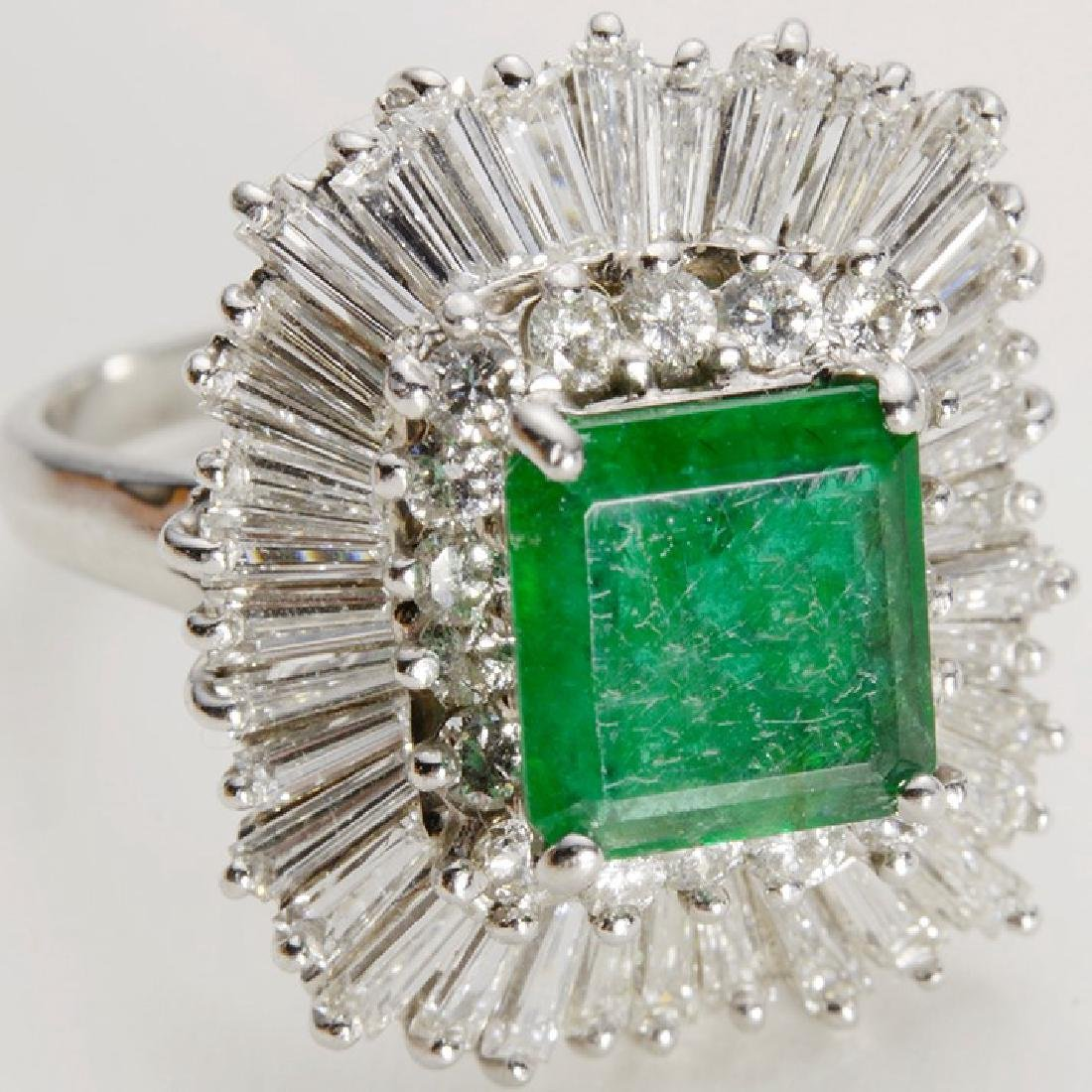 Zambia Emerald Ring  with Diamonds