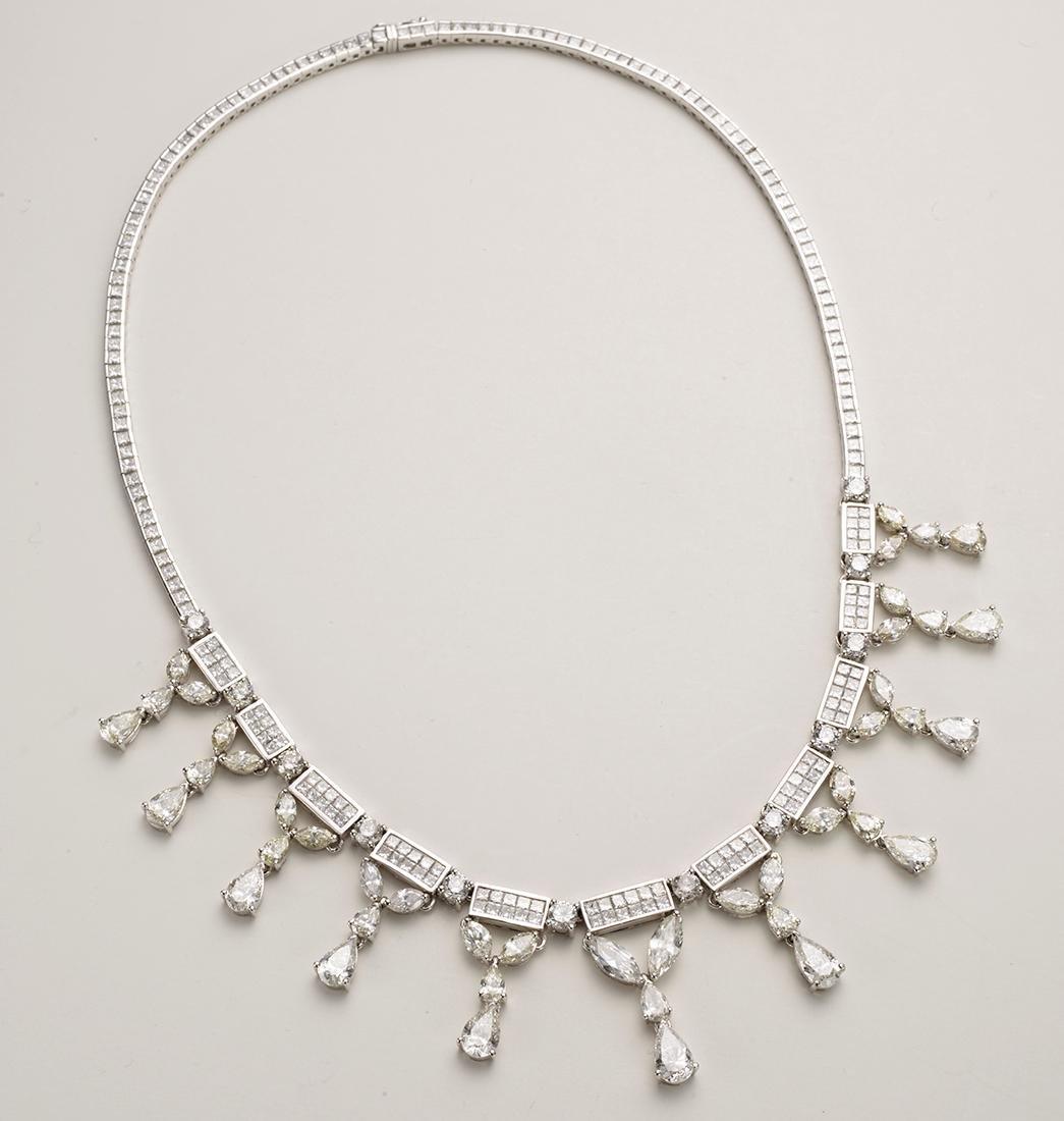 Diamond Necklace 28.11 Carats