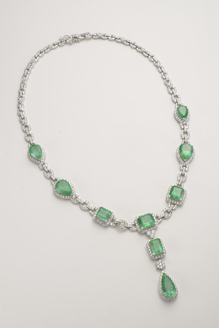 Columbian Emerald Classic Cut Pendant Necklace