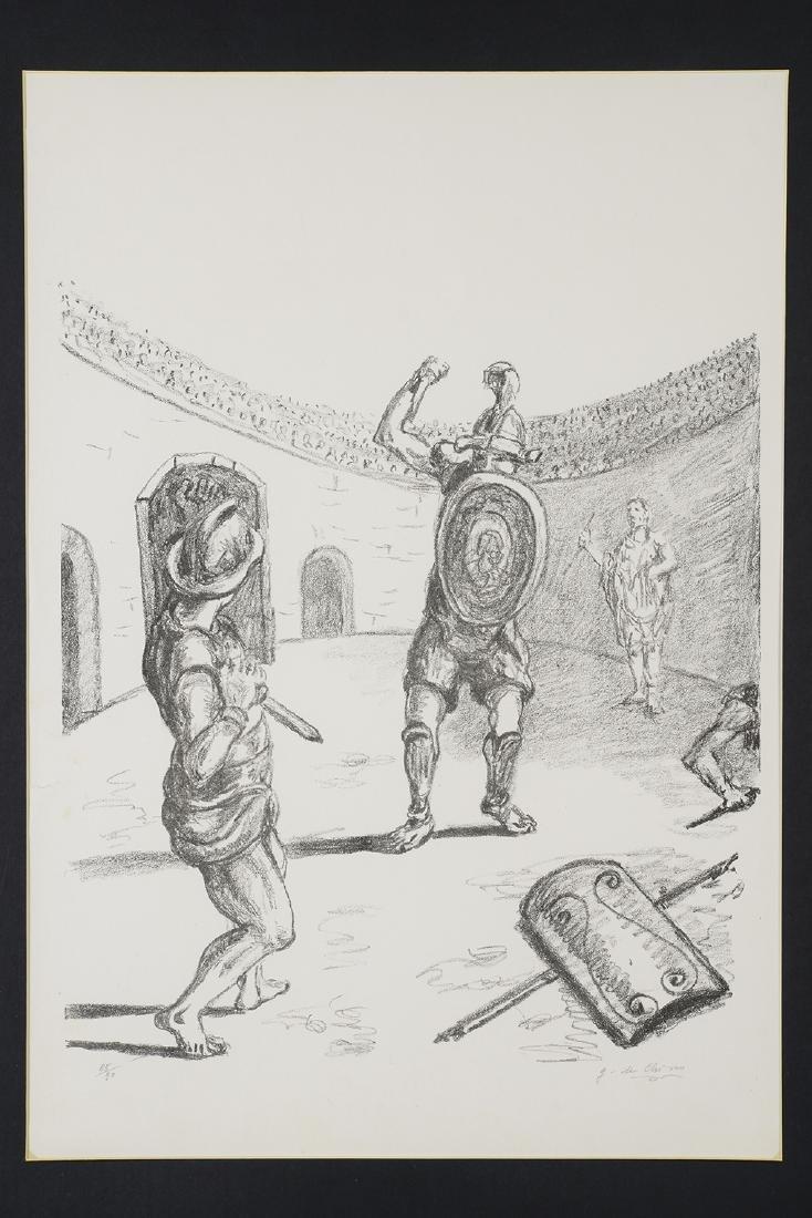 Giorgio de Chirico, Gladiators, 1969