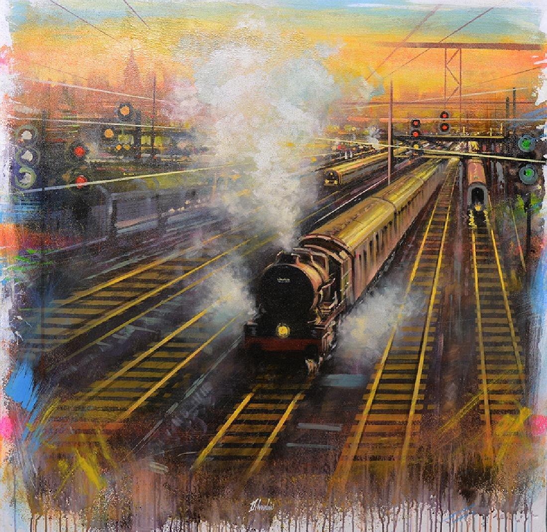 Maurizio Delvecchio, 2015, NYC Sunset Station, Oil