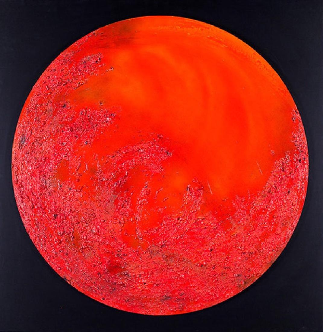Paola Romano, Red Moon, Mixed Media