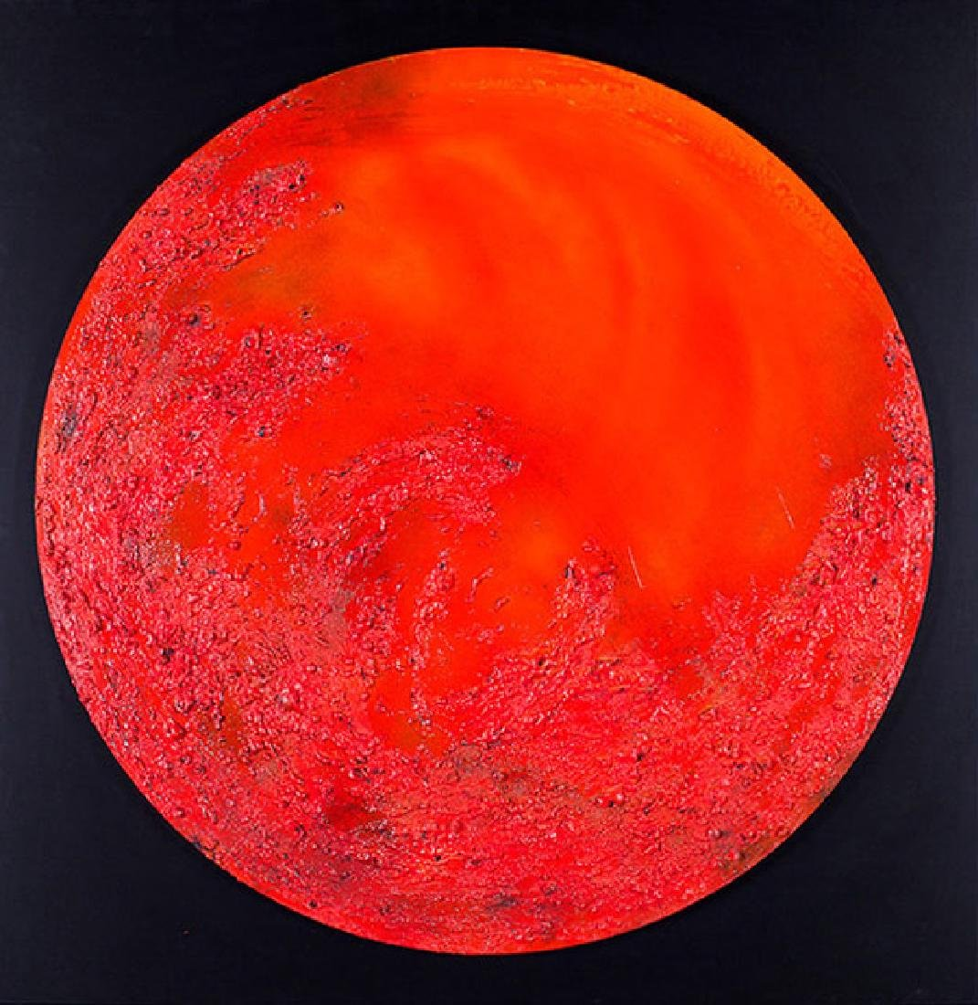 Paola Romano, Red Moon, Mixed Media