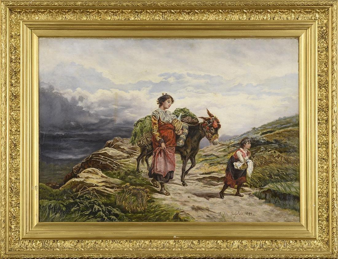 19th Century, Sophie Rofoler, Oil on Canvas