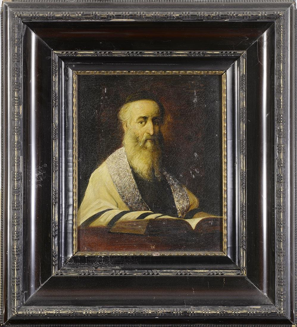 17th Century Oil Painting of Rabbi, unknown artist