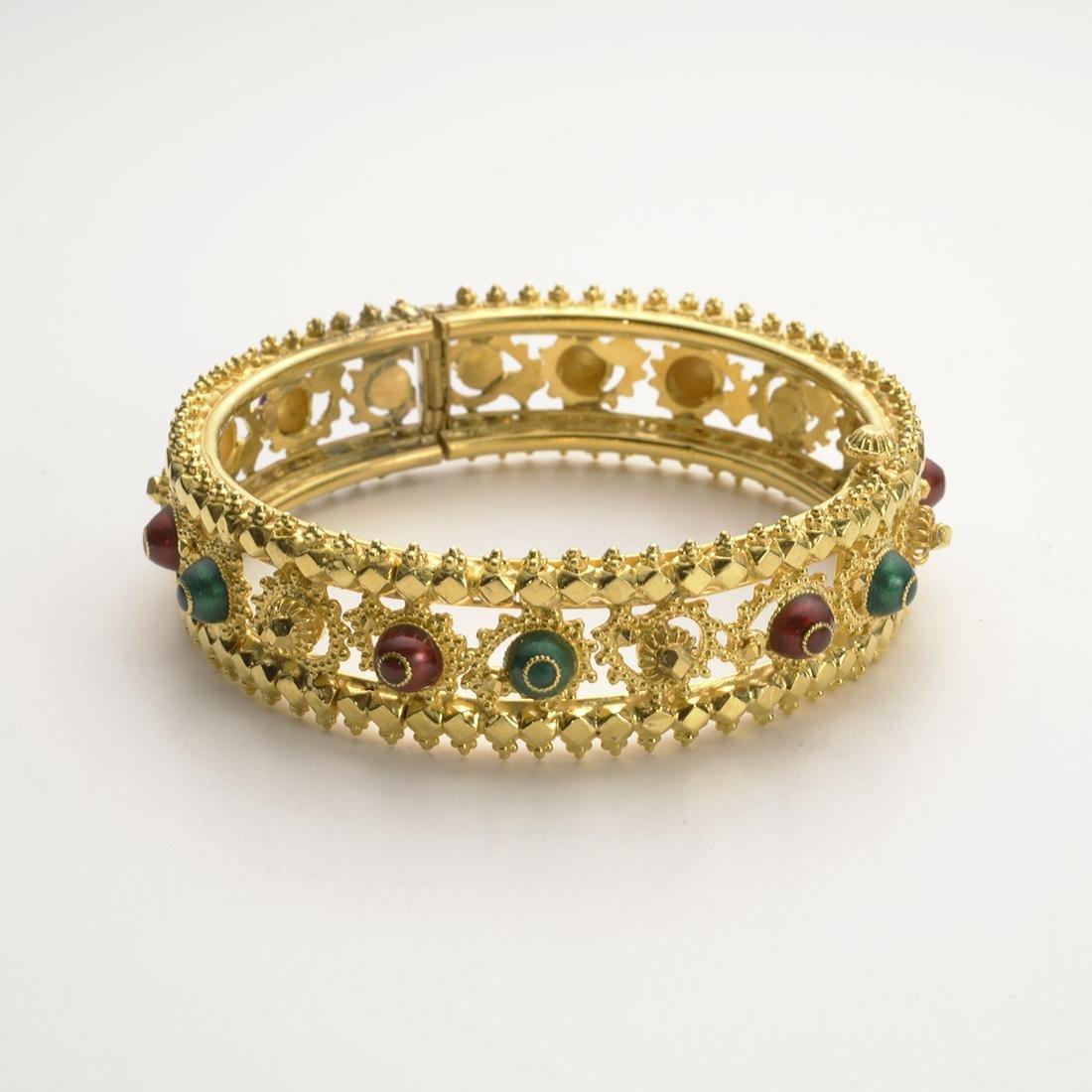 Tribhovanda Bhimji, 22 Carat Gold Bangle