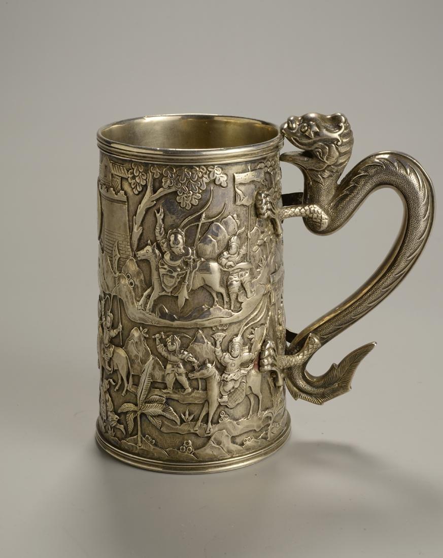 Silver Serpentine Mug with Dragon Handle