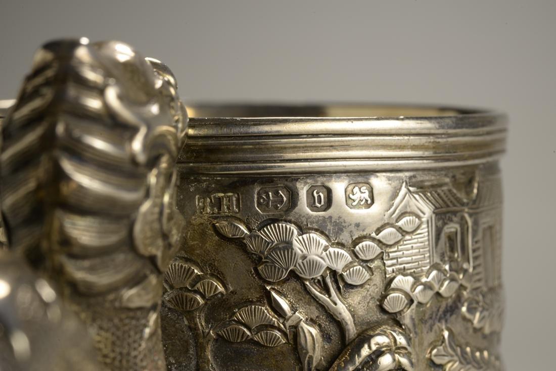 Silver Serpentine Mug with Dragon Handle - 2
