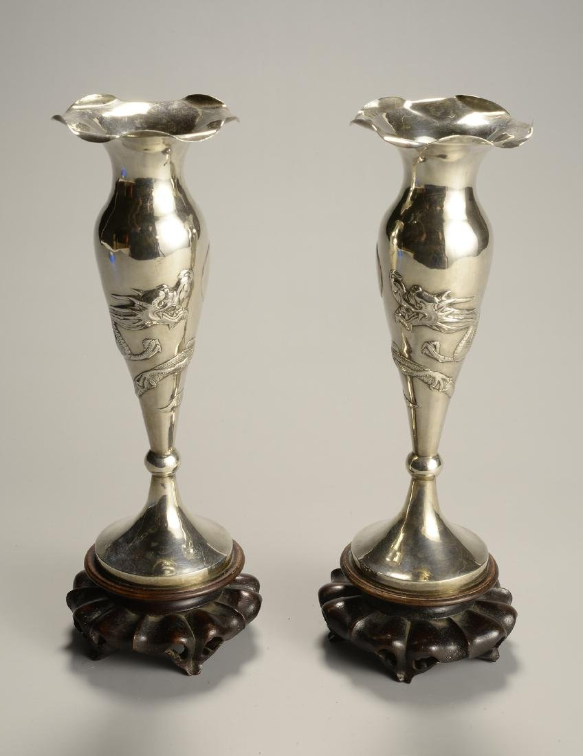 Chinese Silver Candlestick Set