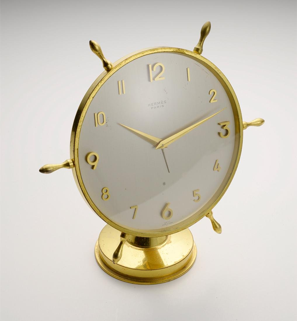 Hermes Antique Desk Clock