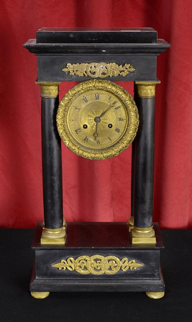 Parisian Wood & Brass Clock, 18th Century