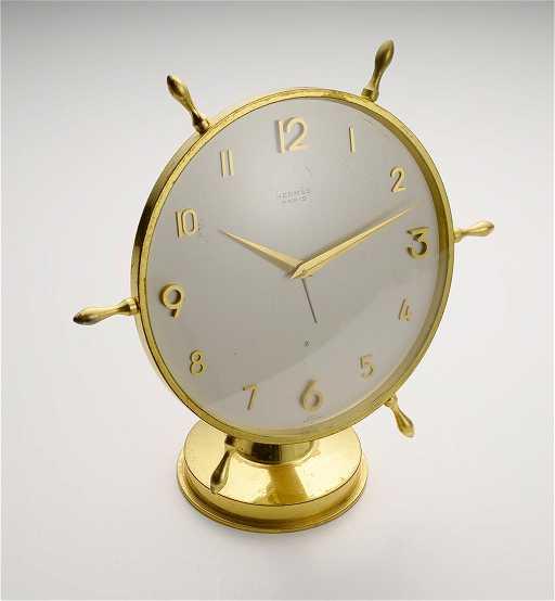 - Hermes Antique Desk Clock, 1960