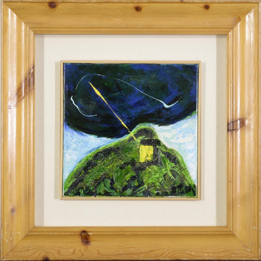 Mario Schifano 1934-1998, Original Enamel on Canvas,