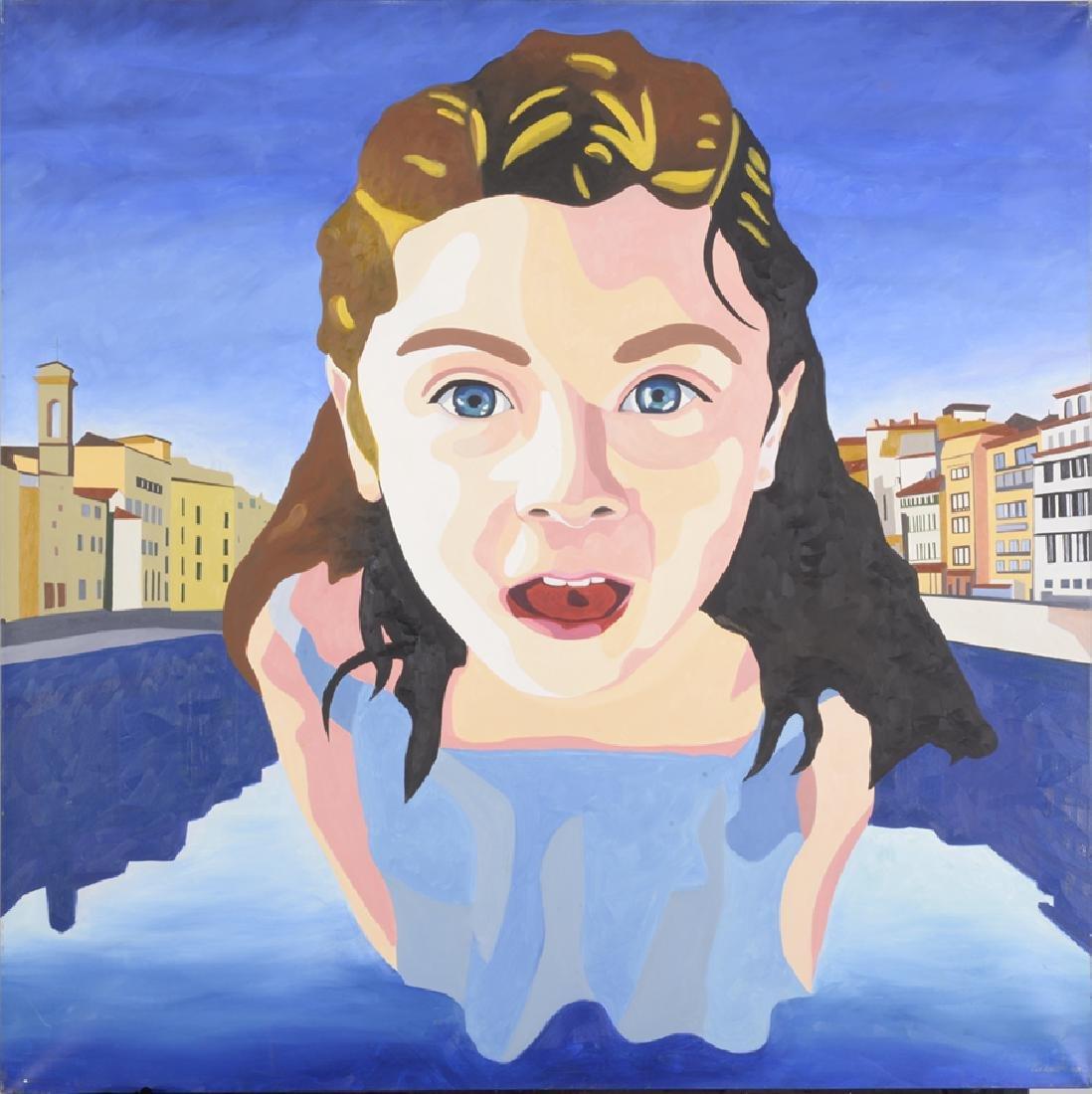 Akira Zakamoto, Florence, Acrylic on Canvas