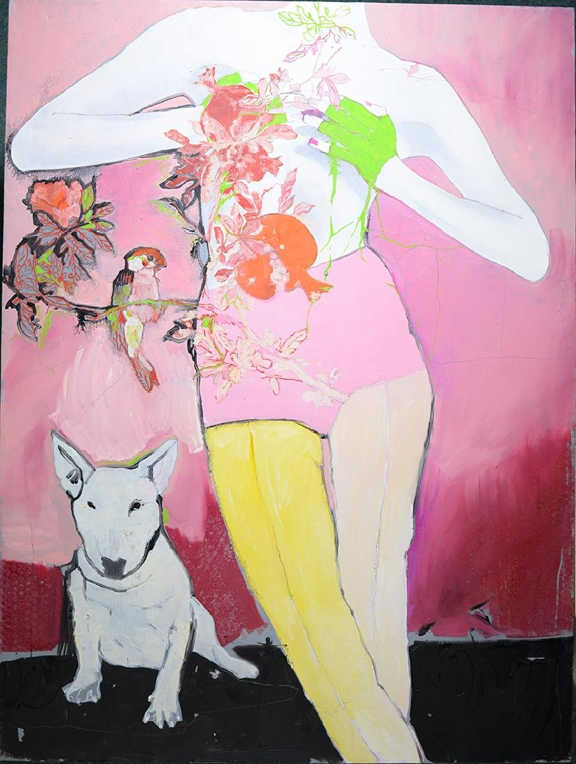 "Lidia Bachis, 2008, ""Love Sweet Comment"" Acrylic on"