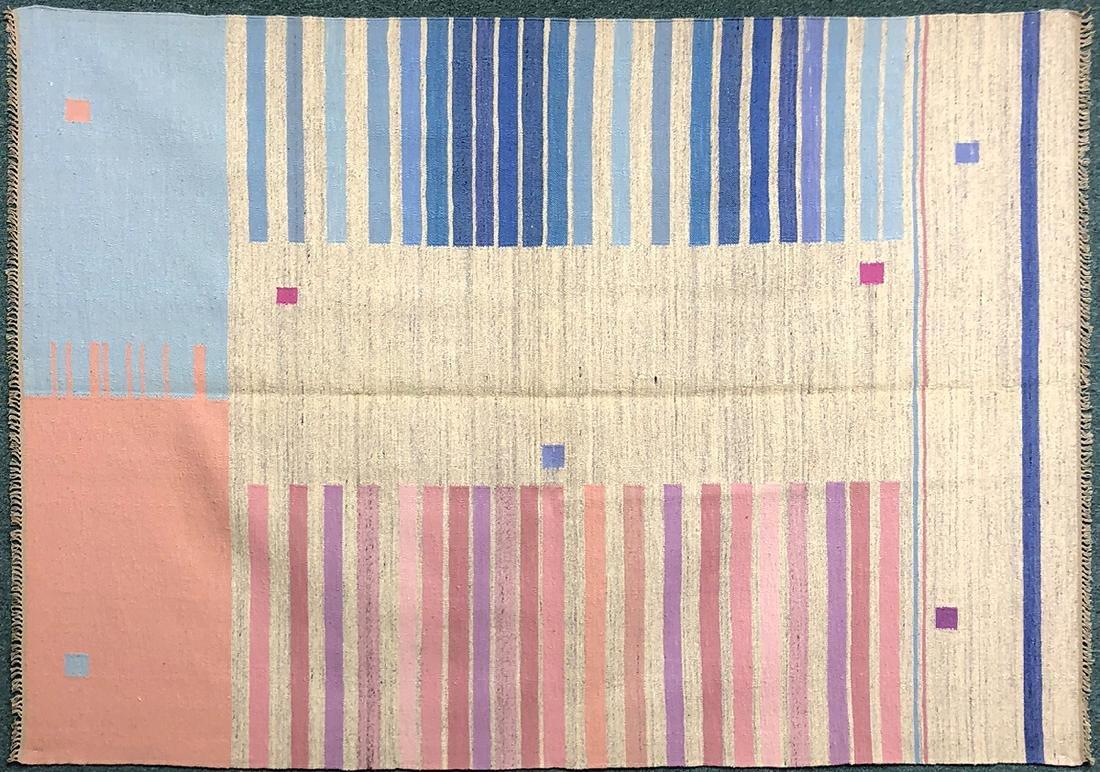 """Rare Polish Kilim Carpet 94.5"""" x 67.3"""""""