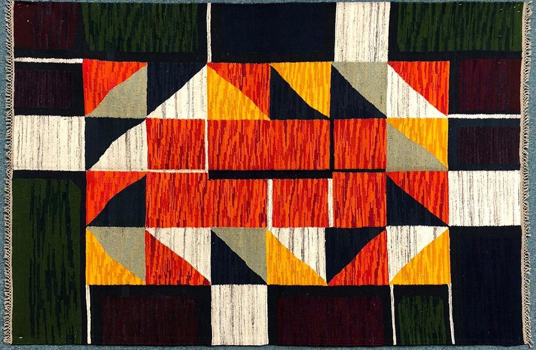 """Rare Hungarian Kilim Carpet 57.5"""" x 87"""""""