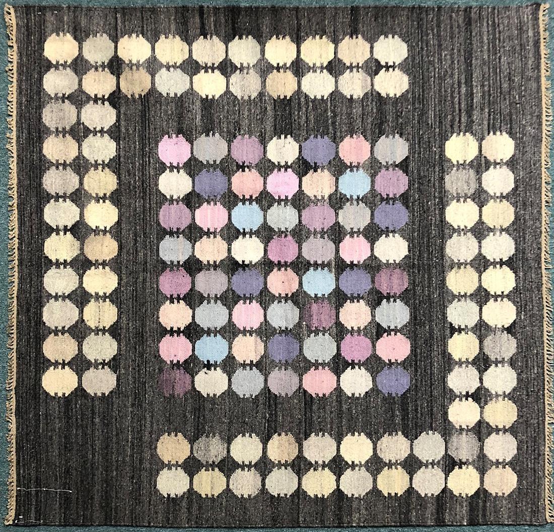 """Rare Hungarian Kilim Carpet 69"""" x 67"""""""