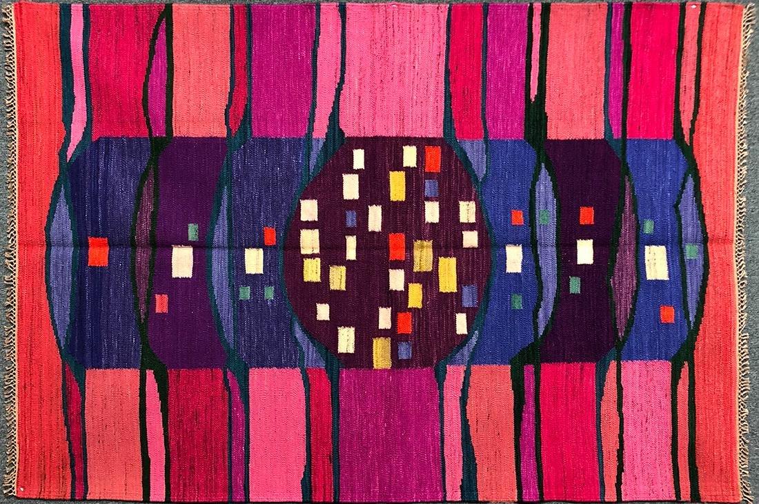 """Rare Hungarian Kilim Carpet 59"""" x 86.5"""""""