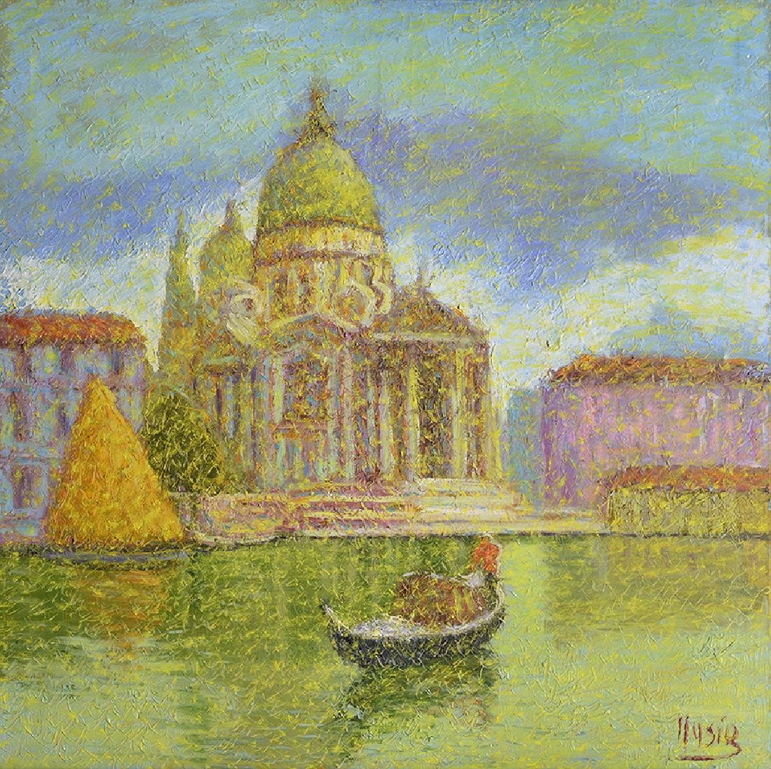 Roberto Masia, (1958-  Oil Painting of Venice