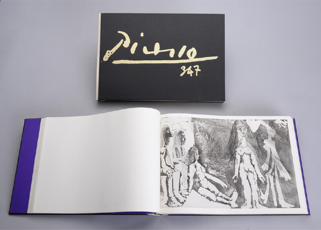 """Picasso 347 Book and Dali Book, """"La Quetre Du Graal"""""""