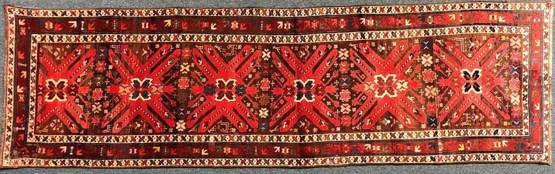 """Kasak  Antique Karabakh Carpet 130"""" x 43.25"""""""