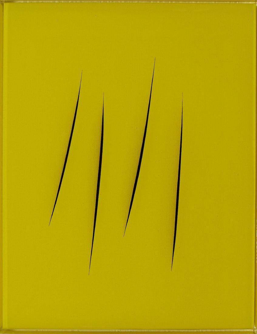 Giorgio Gost, 2015, After Fontana/Yellow