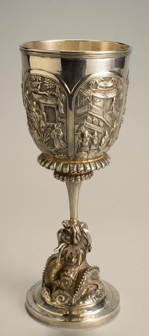Antique Silver Chalice Marked