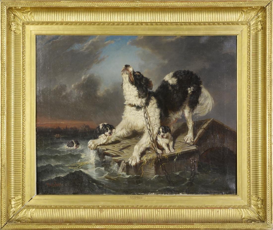 "19th Century, Carl Fredrik Kioerboe, ""Flood"","