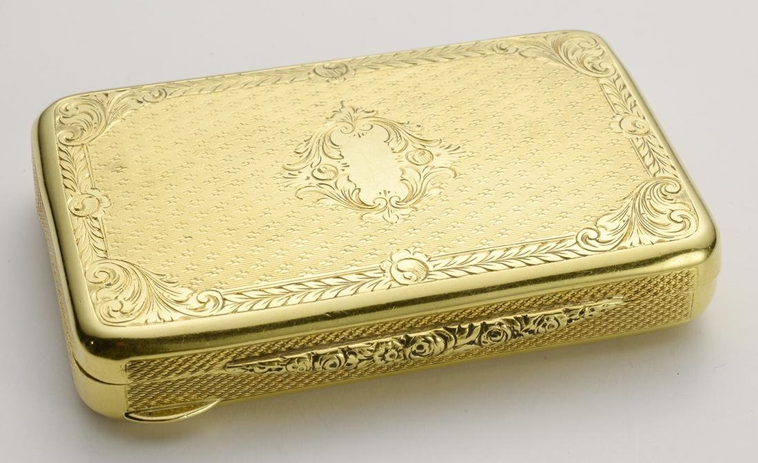 Antique Pill Box 18 Carat Gold