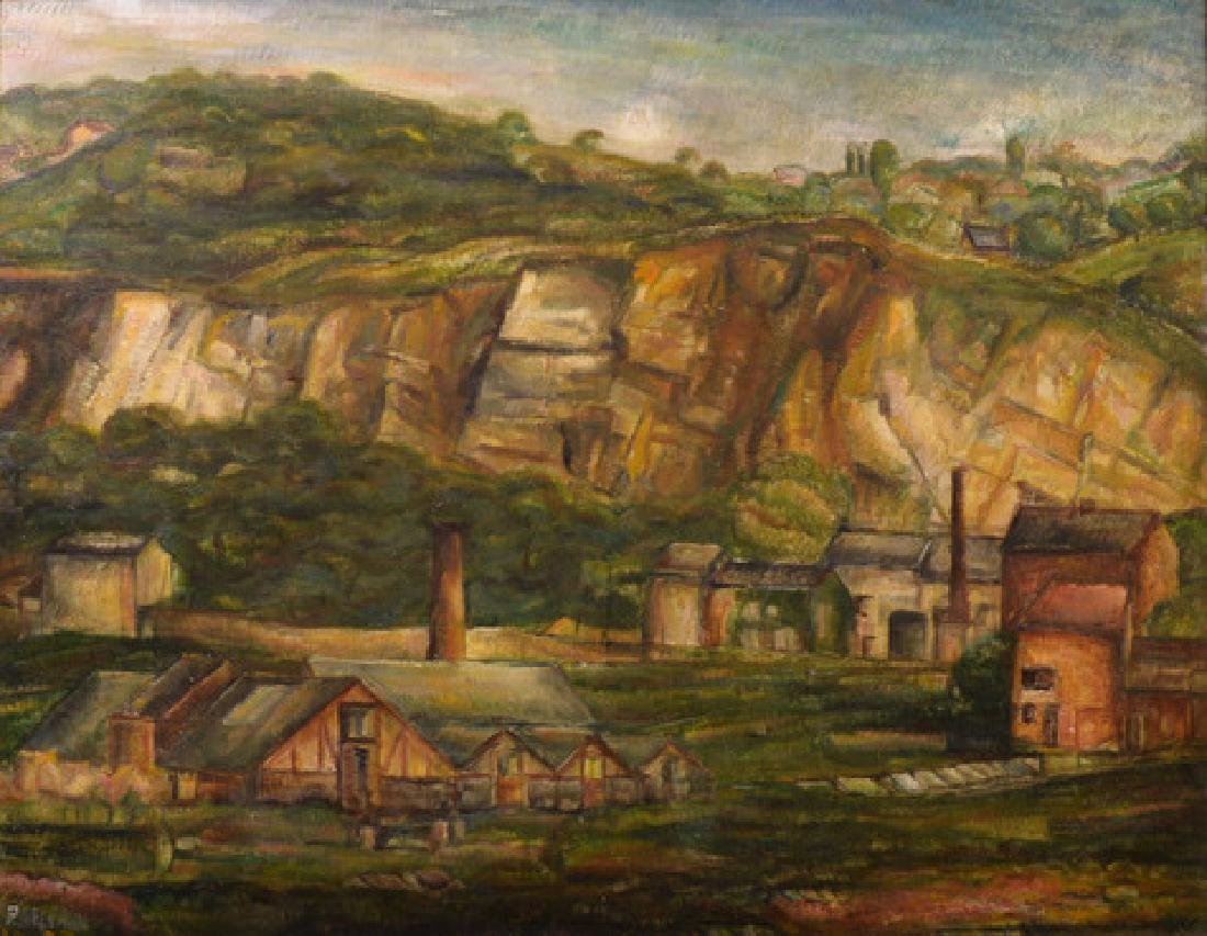 Paul Delvaux, 1925 Vue des Environs de Huy
