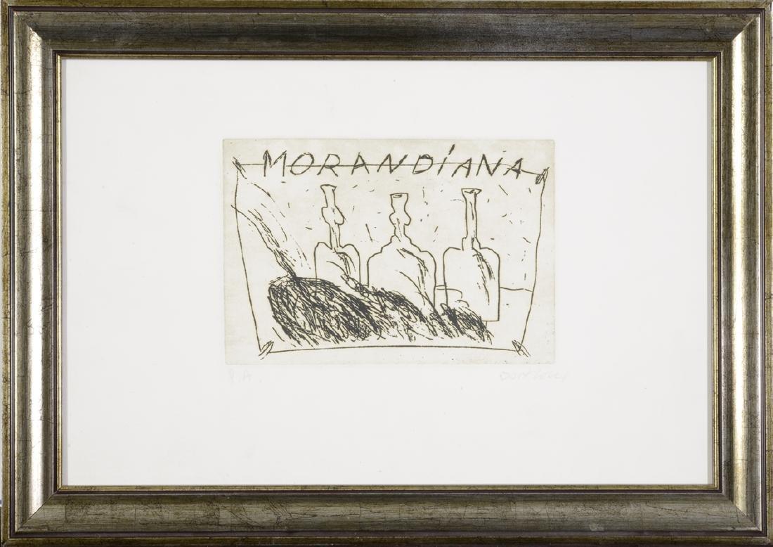 "Bruno Donzelli, 1941 Etching, ""MORANDIANA"""