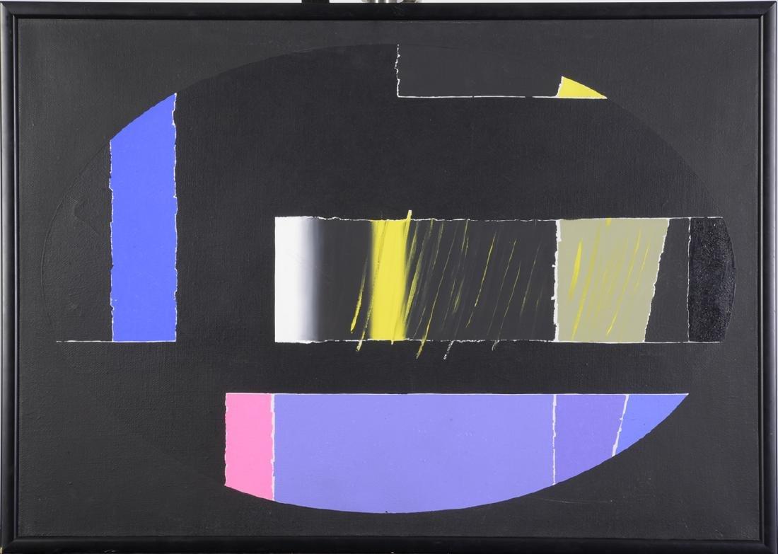 "Ennio Finzi, Mixed Media Painting  40"" x 28"""