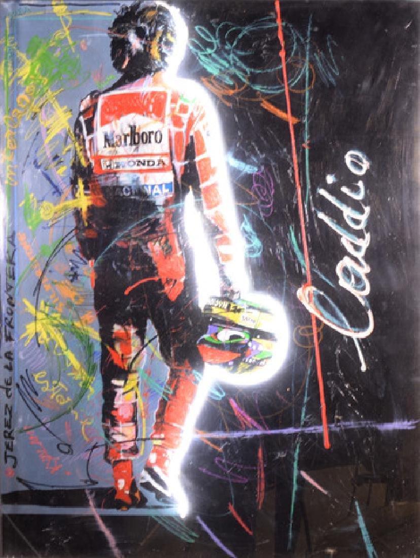"""l'ADDIO"" 2005  Driver, Ayrton Senna, Enrico Manera"